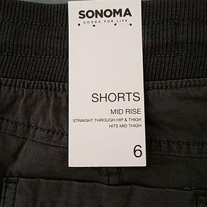 Sonoma Shorts - Women's Gray Zipper Accent Pull On Shorts